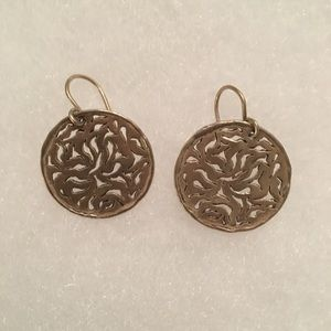 Silpada intricate cutout filigree earrings